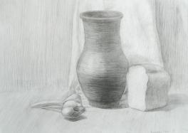 Натюрморт с крынкой
