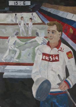 Портрет олимпийского чемпиона Станислава Позднякова
