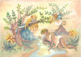 Нарцисс и Эхо. Древнегреческая легенда.