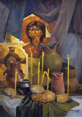 Натюрморт с ликом Христа