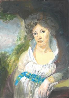 Портрет М.И.Лопухиной (вольная копия)