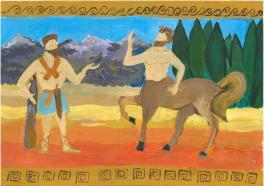 Геракл и кентавр. Древнегреческие легенды