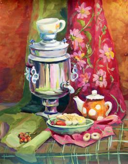 Деревенское чаепитие
