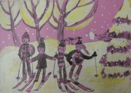 Всей семьей на лыжи