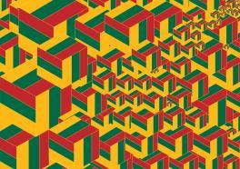 Абстракция на тему флага Литвы