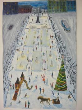 Площадь Горького в Новогоднюю ночь