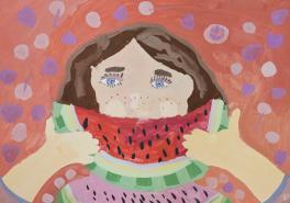 Портрет с арбузом