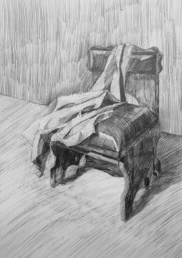 Кресло с драпировкой