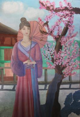 Девушка- сакура