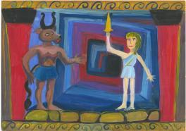 Тесей и Минотавр. Древнегреческая легенда.