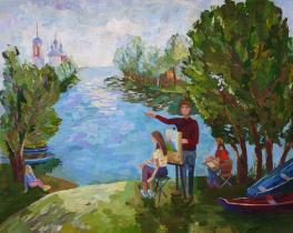 Пленэр на Плещеевом озере
