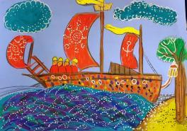 Ветер по морю гуляет и кораблик подгоняет