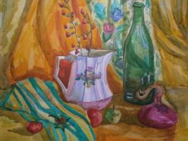 "Стародубова Анна, 11 лет ""Осенний натюрморт"" преп. Стародубова М. А."