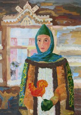 Автопортрет в народном костюме