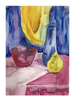 Натюрморт с желтой грушей