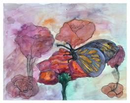 """""""Бабочки полет.Полет к цветку за угощением"""""""