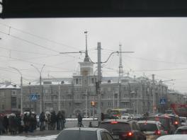 Дом под шпилем. Город Барнаул.