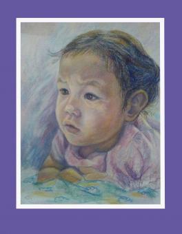В мире сказок (портрет внучки)