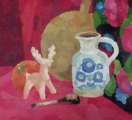 Натюрморт с глиняной игрушкой