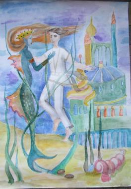 Иллюстрация к легенде о Юрате и Каститисе