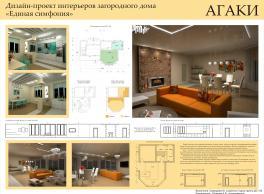 """Дизайн-проект интерьера загородного дома """"Единая симфония"""""""