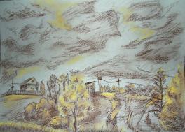 Осень. Сельский вид