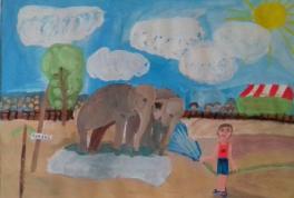 Прогулка слонов. Яровое