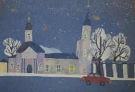 Зимний вечер в Череповце
