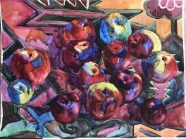 Яблоки на ковре