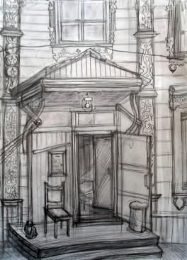 """""""Живая история. Зарисовка старинного дома"""""""