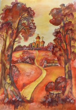 """Мусинова Анастасия, """"Осень в родном краю.""""."""